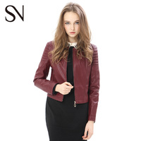2014 Spring vintage slim all-match long-sleeve PU short design motorcycle leather clothing outerwear