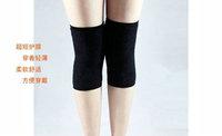 Ultra-thin slip-resistant cashmere kneepad seamless wool kneepad invisible beam leggings set knee thermal lengthen short design