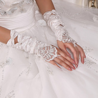 love wedding accessories bridal gloves fingerless long gloves design exquisite handmade beads gloves