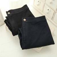 Fashion thickening thermal slim elastic black high waist jeans legging autumn and winter