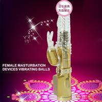Female Grain Masturbating Screw Penis Turning Bead Dildo Massager wand Rabbit 36-speed G-Spot Clitoris Vibrator WaterProof