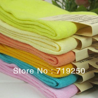 High quality 10 pairs/lot, 2013 fashion women's socks cotton candy color girl's plain socks 34-40,free shipping