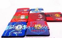 New! Free shipping football fan colour canvas wallet/purse with those big european clubs'  team logo,football fan souvenirs