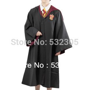 Hot vente! Livraison gratuite Harry Potter Costume adultes Cape Robe cap 4 styles Halloween cadeau Cosplay taille S M L XL XXL XXXL(China (Mainland))