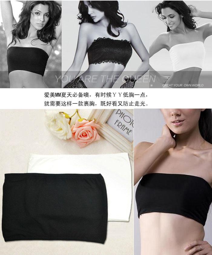 Modal gulps half small vest tube top spaghetti strap basic tube top women's underwear around the chest(China (Mainland))