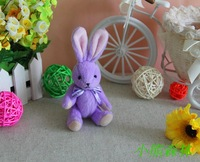 Free shipping Hot-selling Plush toys bouquet rabbit joints Pendant Wedding gift HIgh quality 10pcs set High quality