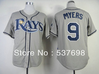 Top Quality Baseball Jersey #9 Wil Myers Grey Jerseys Embroidery Logos Jersey Can Mix Order Cool Base