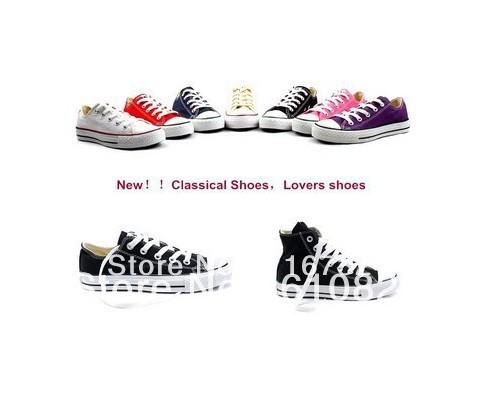 Livraison gratuite, le style élevé faible chaussures de toile de style classique, lacer espadrilles classique, toutes les chaussures de mode star, mandrin de chaussures de sport