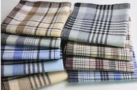 12pcs/lots handkerchief  mens womens 38*38cm 100% cotton handkerchief hanky pocket squares  super value free shipping