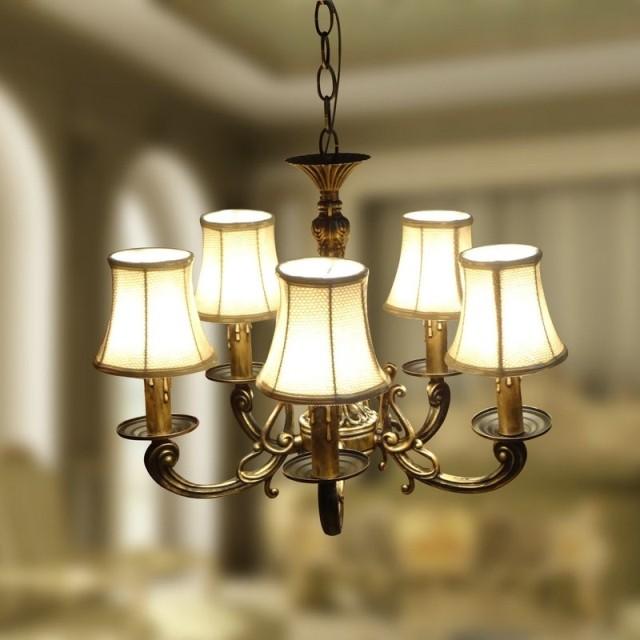lampadario salotto : Fashion Modern chandelier classical bronze pendant chandelier light ...