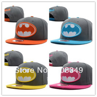 2014 New Batman Superman Adjustable cap snapback American hip-hop cap baseball Casual cap orange/yellow/rose/blue Free Shipping