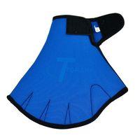 Blue Fingerless Surfing Swimming Webbed Gloves Swim Aid Paddle Glove Medium Size W12371#