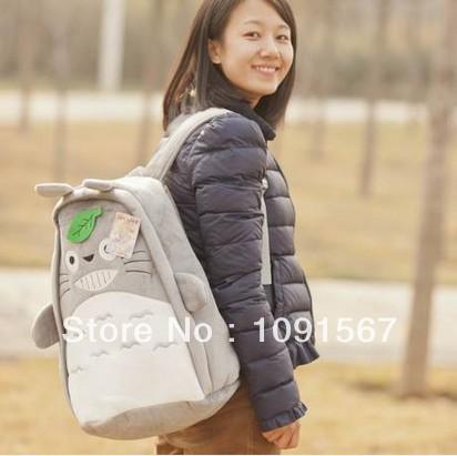 New 2014 Hayao Miyazaki Totoro Totoro expression series schoolbags shoulder bag women backpack F020702(China (Mainland))