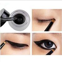 2014 New Arrival Black Waterproof Eyeliner Shadow Gel, Makeup Cosmetic Tool For Women+ Brush