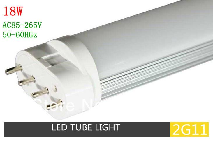 Free Shipping LED 2G11 Tube Light 18W 2G11 base led plug in lamp 545MM 2pcs/lot(China (Mainland))