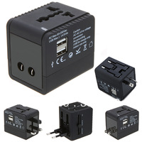 2 USB port Worldwide Universal Travel Adapter Charger US EU UK AU Plug 5V 2.1A for HTC Samsung MP3 mp4 GPS