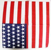 10PX USA United States flag US bandana Head Wrap Scarf Neck Warmer Double Sided Print Zandana SC008