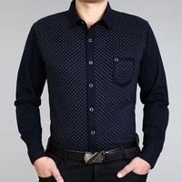 2014 spring SEPTWOLVES men's clothing long-sleeve T-shirt 100% turn-down collar slim cotton fashion