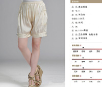 New rice white silk shorts in summer 100% silk pants sexy hot pants loose thin