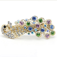 9.9 accessories peacock clip crystal rustic hair accessory rhinestone hair accessory fashion hair maker