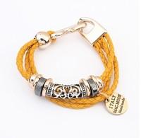 Min. order is $15(mix order)Fashion jewelry,European and American fashion knitting Hemp flowers new Bracelet