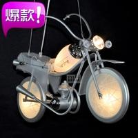 Motorcycle pendant light remote control cartoon lamp boy lamp child light personalized modern lighting brief bedroom lights