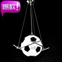 Football pendant light child lamps cartoon lighting modern bedroom lights personalized single-head basketball balcony lamp