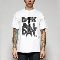 2014  New Fashion Dgk t shirt street skateboard t-shirt sports t-shirt combed cotton west coast t