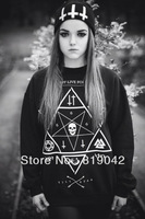 10.99$=Monkey King 2014 NEW Harajuku Star print hoodies Skull Cross sweatshirts spring autumn pullover Hoodies plus size