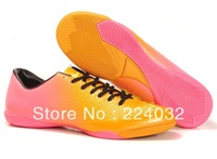 2014 new color soccer shoes men indoor Flat Bottom football shoes and football boots