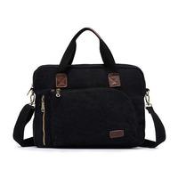 Casual Style Canvas Laptop Bag Briefcase For Men Business Travel Bag Multifunctional Shoulder Messenger Bag Handbag Satchel