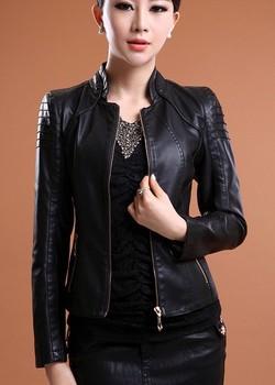 Large Размер XXXL Женщиныs leather jacket 2014 spring and autumn Женщины Кожа PU ...