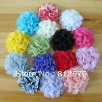 Flower Hair Accessories 15COLORS 10cm Gauze Flower accessories 100pcs/lot