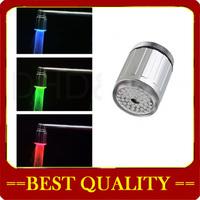 wholesale LED Light Faucet,LED light faucet Temperature Sensor LED Light Water Stream Faucet Tap 3 Color RGB Glow