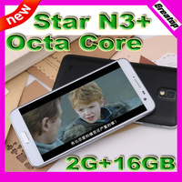 The first Star  MTK6592 Octa Core N3+phone 2GBRAM+16GB 5.7inch 3200mAh Big battery Android 4.2 cellphone SG post free shipping