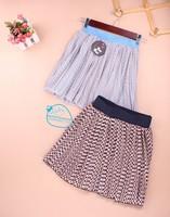 New Sweet print elastic waist bust skirt half-length chiffon short skirt female 8043 Free Shipping
