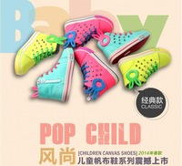2014 new spring and autumn candy color high-top baby canvas shoes, Kids Children shoes Girls Boys sneakers