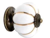 10pcs Europe Ceramic Door Cabinets Cupboard Pumpkins White Knobs Handles Pull Drawer