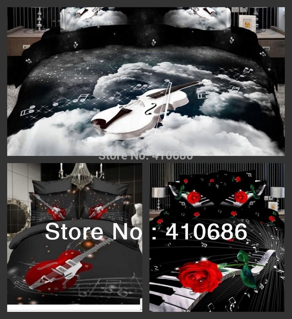 housse couette guitare. Black Bedroom Furniture Sets. Home Design Ideas