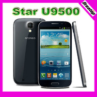 Star U9500 U9501 i9500 5.0 HD IPS Screen Android 4.2 Smart Phone with MTK6582 Quad Core CPU 1GBRAM +8GB and 8MP Camera 2battery