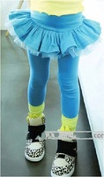 Free Shipping 16030203  Children's clothing  Baby Girl's Lovely Pant Skirt   Candy color and TuTu Dress