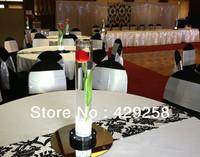 Free Shipping 5pcs Flocking Taffeta White & Black Table Runner for Wedding,Party,Hotel