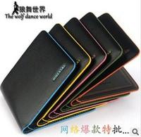 Genuine leather bag wallet male short design wallet