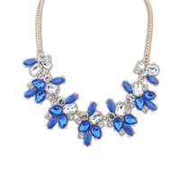 Fashion decoration necklace fashion sweet fresh bling gem necklace 1521