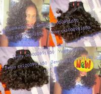 "6A quality 3pcs/lot #1b virgin cambodian romance curl aunty funmi hair Free shipping 8-30"" Mix length"