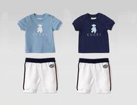 2014 New Boy Suits Children Brand 2pcs Clothing Sets Short Sleeve Tee Shirt+Short 6sets/lot