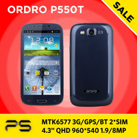 "Freeshipping 5.2"" Ordro P550T 512M RAM 4GB ROM 0.3/8.0MP Android 4.1 3G Bluetooth GPS  Dual SIM Dual Core MTK6577 Smart  phone"