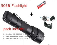 Ultrafire 502B CREE XML T6 1300 Lumens 5-Mode Led Flashlight(2*18650+Charger)+Free Shipping
