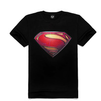 Superman 3D T-shirts 100% cotton Short sleeve Male's clothings Cool&Rock T-shirts for Boy Fashion O-neck Tee Shirts Men's wear