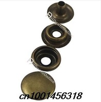 10 mm 100 sets bronze metal buttons jeans uniforms christmas Press Studs Popper Prong Fastener Sewing Craft